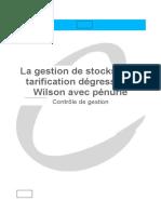 22_La gestion de stocks avec tarification dégressive - Wilson avec pénurie