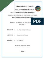 METRADOS ALCANTARILLADO PLUVIAL