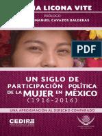 2016. CECILIA LICONA VITE. Un siglo de participación política de la mujer en México, 1916-2016.