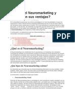 Qué es el Neuromarketing y cuáles son sus ventajas