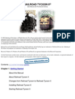 Railroad Tycoon II - Platinum - Manual - PC