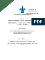 Programa de Estudios de La e.e. Estrategias de Comunicación Para La Capacitación