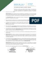 POLITICA DE CONTROL DE TABACO, ALCOHOL Y DROGAS