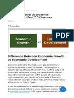 Economic Growth vs Economic Development   Best 7 Differences