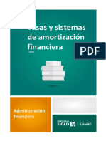 Tasas y sistemas de amortización financiera