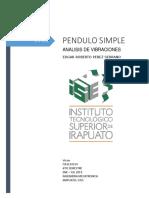 SIMULACION DE UN PENDULO SIMPLE