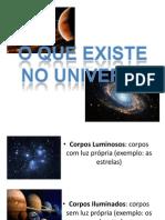 o Que Existe No Universo
