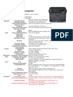 Especificações completas SAMSUNG LASER CLX-3175N