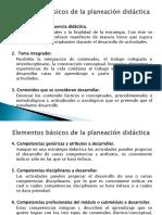 Elementos básicos de la planeación didáctica