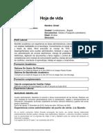 HOJA DE VIDA 012