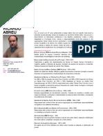 Curriculum Vitae de Ricardo Abreu (PT)