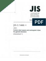 JIS G 3466-2016 English Version