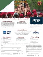 2017 St. John Fisher College Baseball Camp Flyer