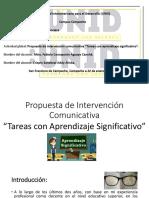 Propuesta de intervención comunicativa