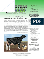 February Holstein Plaza Newsletter