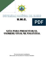 Guía para el Informe Final de Pasantiías