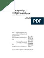 Beatriz Nates Cruz - Soportes teóricos y etnográficos sobre conceptos de territorio