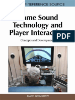 [Premier Reference Source] Mark Grimshaw, Mark Grimshaw - Game Sound Technology and Player Interaction_ Concepts and Developments  (2010, IGI Global)
