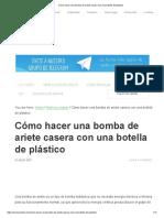 Cómo hacer una bomba de ariete casera con una botella de plástico