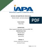 Tarea 4 de Marco Legal de la Educación Dominicana MGC-102...docx
