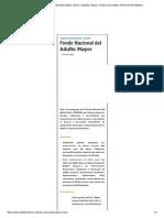 Fondo Nacional del Adulto Mayor _ Bonos, Subsidios, Becas, Fondos Concursables, Beneficios del Gobierno