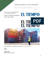 eltiempo.com-Exportaciones colombianas cayeron 19  en diciembre del 2019