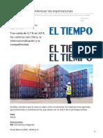 eltiempo.com-Tres rutas para enderezar las exportaciones