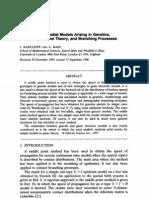 Discrete Time Spatial Models Arising in Genetics