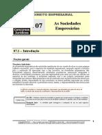 EMP 07 - As Sociedades Empresárias.pdf
