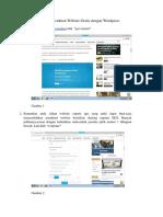 Cara Membuat Website Gratis dengan Wordpress
