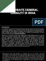 Corporate Criminal Liability in India.pptx