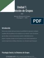 Unidad 1. Dinamica de Grupos
