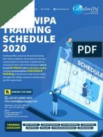 Geodwipa Training Schedule Q1-Q4 2020