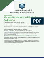 International Journal of Proteomics & Bioinformatics