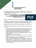 -Reforma Parcial de la Ordenanza sobre el Régimen de la Organización y Funcionamiento de la Función Deliberante y Legislativa del Poder Público El Hatillo