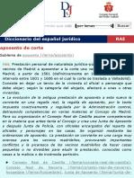Definición de aposento de corte - Diccionario del español jurídico - RAE