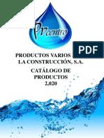 CATALOGO DE PRODUCTOS PVCENTRO 2020