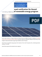 Saudi Arabia issued notification for Round Three of Solar Projects