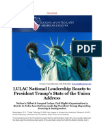 LULAC National Leadership Reacts to President Trumps State of the Union Address