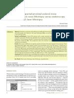 Management of impacted proximal ureteral stone