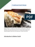 Battera Sushi-Traditional Sushi Recipe
