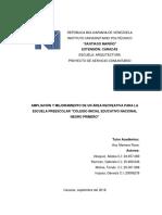SERVICIO COMUNITARIO ARQUITECTURA ESCUELA PREESCOLAR NEGRO PRIMERO.pdf