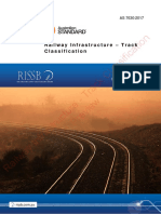 As 7630(2017) - Railway Infrastructure - Track Classification
