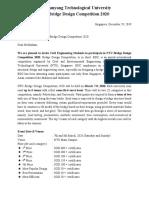 Invitation Letter - BDC 2020