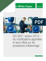 ISO 9001 version 2015 - les modifications apportées et leurs effets sur les procédures d'étalonnage