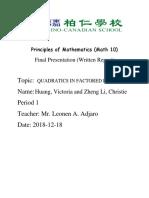 Math 10 Final Draft