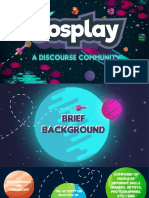 Discourse Community Presentation- Cosplay