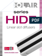 HIDE - 2017 - Difuzor Liniar Cu Fante de 21mm Dar Fara Rama