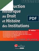 Introduction historique au droit et histoire des institutions