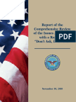 Report of Repeal of DADT